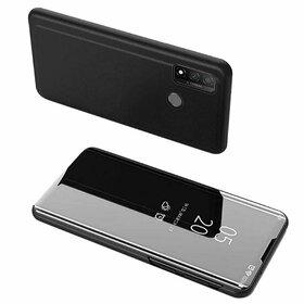 Husa Flip Mirror pentru Huawei P Smart (2020) Black