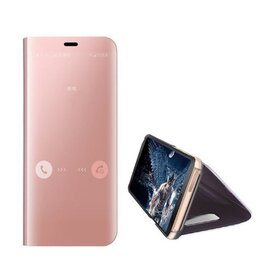 Husa Flip Mirror pentru Huawei P40 Lite Rose Gold