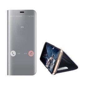 Husa Flip Mirror pentru Huawei P40 Pro Silver