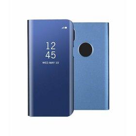Husa Flip Mirror pentru iPhone XS MAX Blue