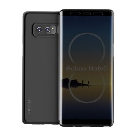 Husa Flip Rock Royce Transparenta pentru Galaxy Note 8 Black