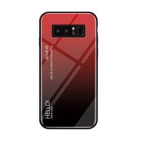 Husa Hybrid Back Degrade pentru Galaxy Note 8 Red
