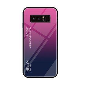 Husa Hybrid Back Degrade pentru Galaxy Note 8 Pink