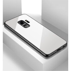 Husa Hybrid Back pentru Galaxy A8 (2018) White