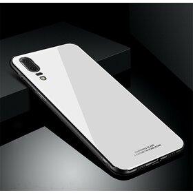 Husa Hybrid Back pentru Huawei P20 White