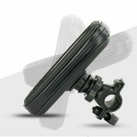 Husa impermeabila universala cu sistem prindere ghidon bicicleta / moto Black