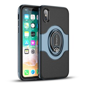 Husa Ipaky Hybrid cu inel si magnet pentru iPhone X/ iPhone XS