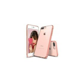 Husa iPhone 7 Plus Ringke FUSION ROSE GOLD + BONUS folie protectie display Ringke