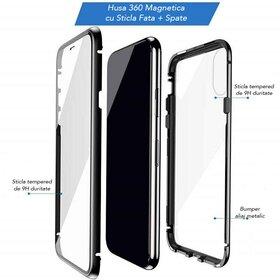 Husa iPhone SE 2 (2020) / iPhone 7/ iPhone 8 model 360 Magnetica cu Sticla fata + spate