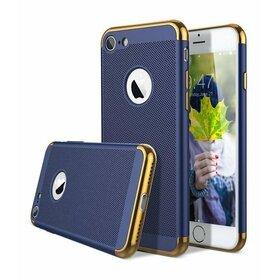 Husa Luxury cu perforatii pentru iPhone 7 Plus Blue