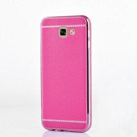 Husa Luxury Leather pentru Galaxy A3 (2017) Pink