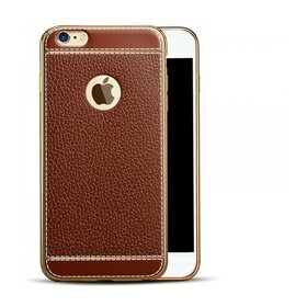 Husa Luxury Leather pentru iPhone 7+ Brown