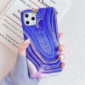 Husa marmura cu aplicatii geometrice pentru Huawei P20 Pro Purple