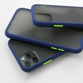 Husa mata cu bumper din silicon pentru Galaxy A40 Blue