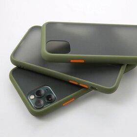 Husa mata cu bumper din silicon pentru Galaxy Note 10 Plus Green