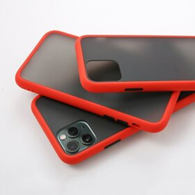 Husa mata cu bumper din silicon pentru iPhone 7 Plus/ iPhone 8 Plus Red
