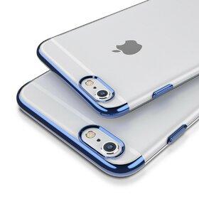 Husa Plating Transparenta pentru iPhone 7/iPhone 8 Blue