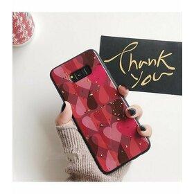 Husa protectie cu model inimi pentru Galaxy A6 Plus (2018)