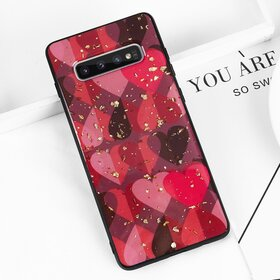 Husa protectie cu model inimi pentru Galaxy J6 Plus (2018)