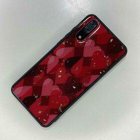 Husa protectie cu model inimi pentru Huawei P20