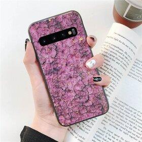 Husa protectie cu model marble pentru Galaxy A8 (2018) Pink