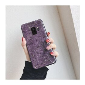 Husa protectie cu model marble pentru Galaxy J4 (2018) Plus Purple