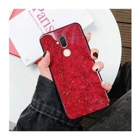Husa protectie cu model marble pentru Huawei Mate 20 Pro Red