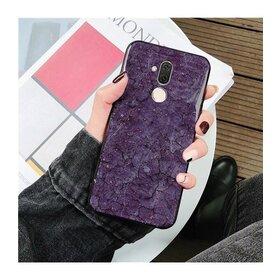 Husa protectie cu model marble pentru Huawei P30 Purple