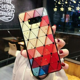 Husa protectie cu model multicolor pentru Galaxy S8