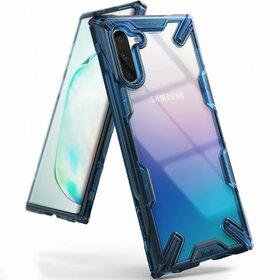 Husa Ringke Fusion X PC + Bumper TPU pentru Samsung Galaxy Note 10 Blue