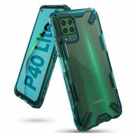 Husa Ringke Fusion X PC + Bumper TPU pentru Huawei P40 Lite Blue