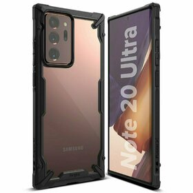 Husa Ringke Fusion X PC + Bumper TPU pentru Samsung Galaxy Note 20 Ultra Black