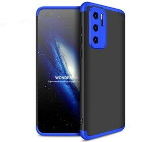 Husa Shield 360 GKK pentru Huawei P40 Black&Blue