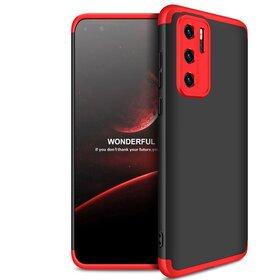 Husa Shield 360 GKK pentru Huawei P40 Pro Black&Red
