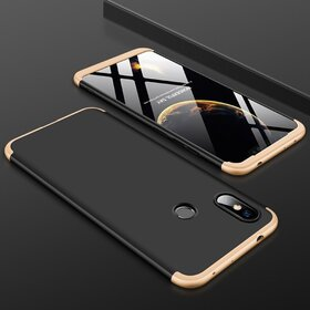 Husa Shield 360 GKK pentru Huawei Y6 (2019) Black&Gold
