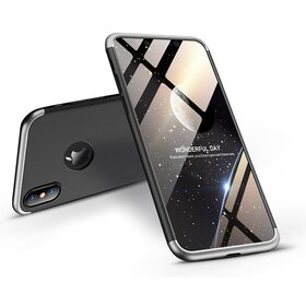 Husa Shield 360 GKK pentru iPhone X Black&Silver