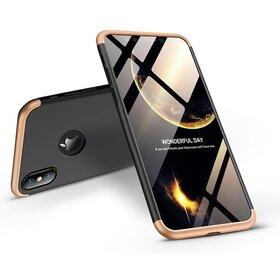 Husa Shield 360 GKK pentru iPhone XR Black&Gold