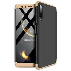 Husa Shield 360 GKK pentru Samsung Galaxy A70 Black&Gold