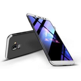 Husa Shield 360 GKK pentru Samsung Galaxy A8 (2018) Black&Silver