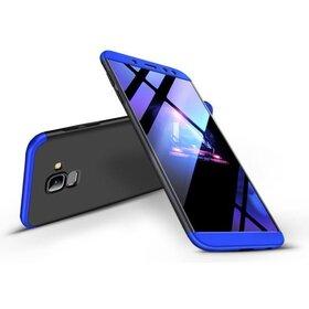 Husa Shield 360 GKK pentru Samsung Galaxy A8 (2018) Black&Blue