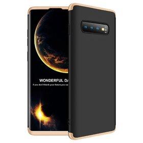 Husa Shield 360 GKK pentru Samsung Galaxy S10 Black&Gold