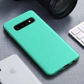 Husa Silicon Eco pentru Galaxy S10 Green Mint