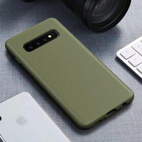 Husa Silicon Eco pentru Galaxy S10 Plus Kaki