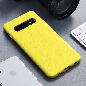 Husa Silicon Eco pentru Galaxy S10 Plus Yellow