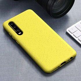 Husa Silicon Eco pentru Huawei P30 Lite Yellow