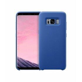 Husa Silicon Premium pentru Galaxy A8 (2018) Blue