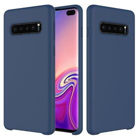Husa Silicon Premium pentru Galaxy S10 Navy