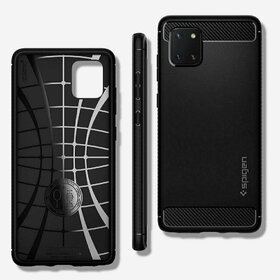 Husa Spigen Rugged Armor pentru Samsung Galaxy Note 10 Lite Black