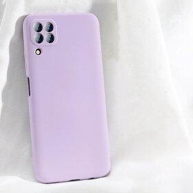 Husa subtire din silicon cu protectie camera pentru Huawei P40 Lite Lavender