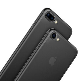 Husa Transparenta Baseus Mata pentru iPhone 7 Plus/iPhone 8 Plus Gunmetal